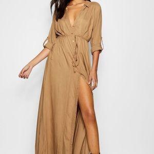 Deborah Utility Belted Maxi Dress